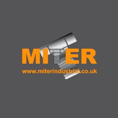 miter industrial logo on grey background
