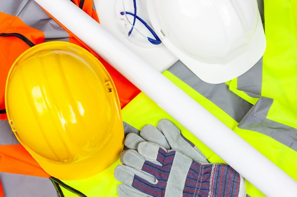 jumble of protective work wear PPE