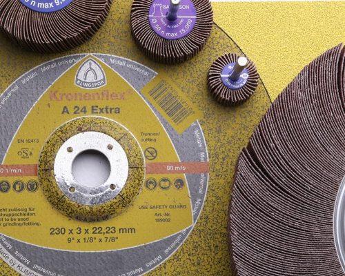 selection of abrasive sanding discs